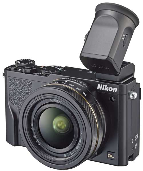 The Nikon DL18-50 with optional accessory EVF.