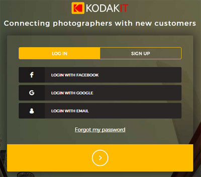 The Kodakit homepage. Source: Kodakit.