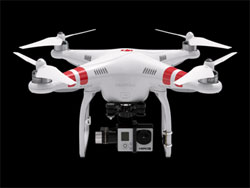The DJI Phantom 2 + H3-3D is popular model among photographers and can be bought for under $1000