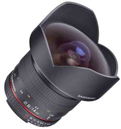 The Samyang f2.8 full-frame 14mm - about the price of a repair on a Canon or Nikon 14mm!