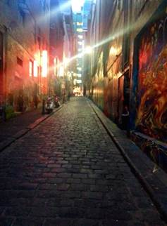 These photos feature street art in an incidental fashion rather than as the main feature of the photograph itself. Photo: Sharon Givoni