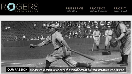 The homepage to Rogers Photo Archive
