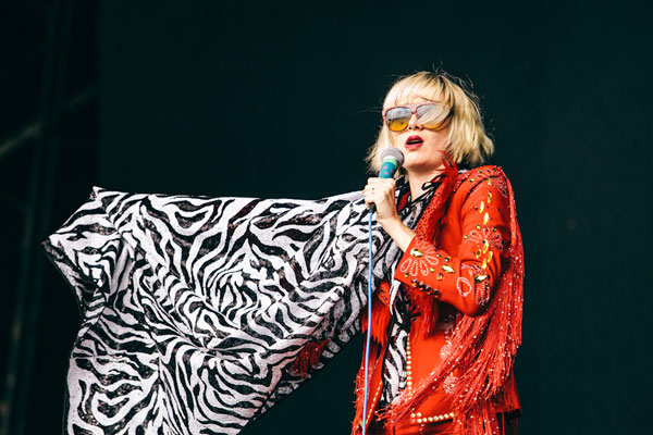 Karen O from the Yeah Yeah Yeahs performing at Big Day Out 2013. Photo: Lisa Drew. Source: Supplied