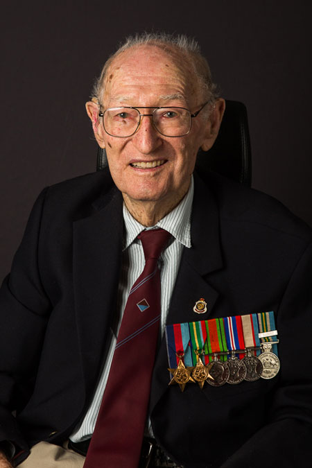 Char;es 'Chas' Fisher fought on the Kokoda Trail. He went without food for 13 days, and his platoon was cut off by the Japanese, who were advancing against them. They couldn't get back to their main battalion, so they had to just sit quietly for 13 days. During this time Chas found a pawpaw, and said it was the best Paw Paw he'd ever eaten. Photo: Louise Bagger.