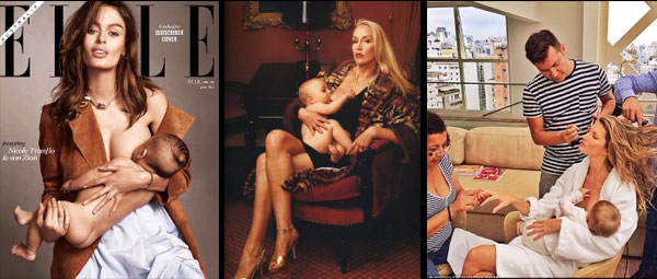 Are these realistic examples of what breastfeeding looks like?