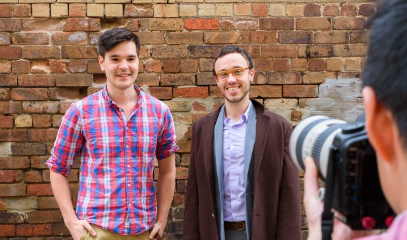 Co-founders Kearney, Schiller and photographer Adrian Lee. Source: AFR.