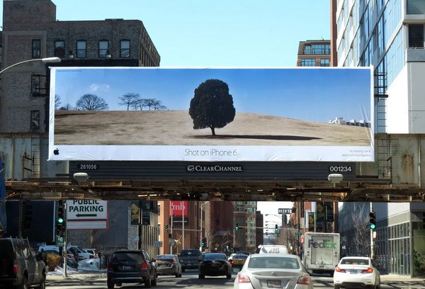A huge billboard in Chicago.